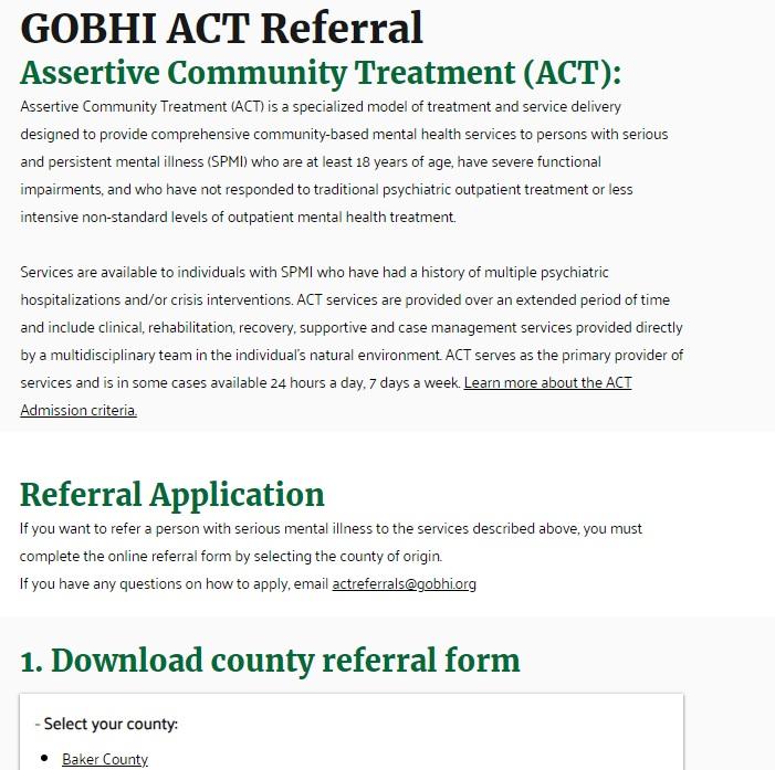 GOBHI ACT Referral